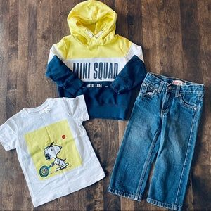 H&M Shirt and Hoodie Levis Jeans Bundle